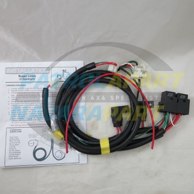Premium Quality Headlight Upgrade Wiring Loom for Nissan Patrol GQ & GU