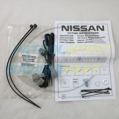 Genuine Nissan Patrol GU Y61 Towbar Plug Harness