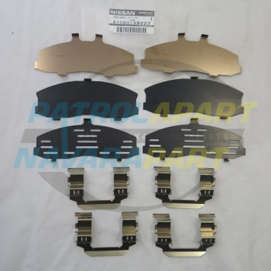 Genuine Nissan Patrol GU Y61 Front Brake Caliper Shim Kit