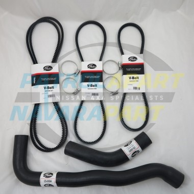 Emergency Radiator Hose & Fan Belt Kit for Nissan Patrol GQ Y60 TB42