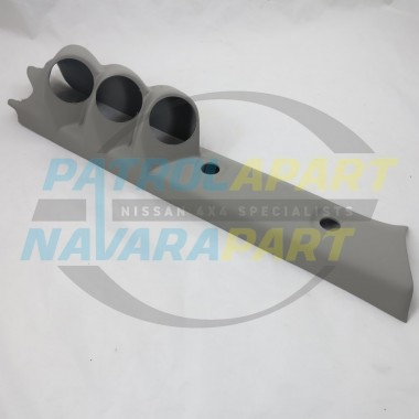 Nissan Patrol GU Pillar Pod Three gauge 52mm Gauges Colour W