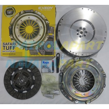 ZD30 Safari Tuff Clutch Kit with Solid Flywheel suit Nissan Patrol GU