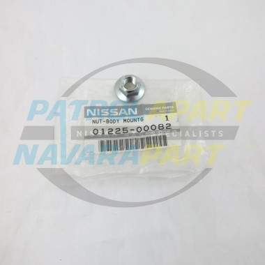 Genuine Nissan Patrol GQ Early Body Mount Nut Row 1-4