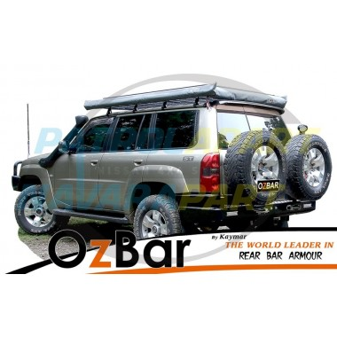 Nissan Patrol GU 1-3 OZBAR With Two Spare Tyre Carriers