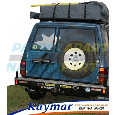 Nissan Patrol GQ Rear Kaymar Bar with Twin Pivots & No Swing Aways
