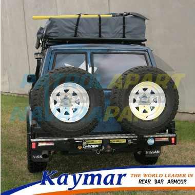 Nissan Patrol GQ Rear Kaymar Bar with Twin Spare Tyre Carriers