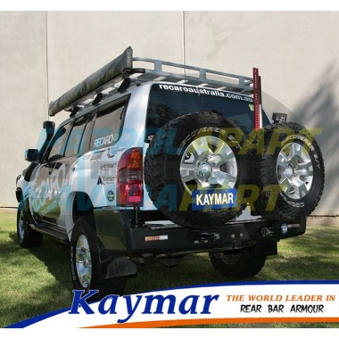 Nissan Patrol GU Kaymar Rear Bar with 2 x Wheel Carriers