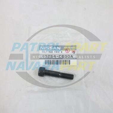 Genuine Nissan Patrol GQ GU Manual Free Wheeling Hub Bolt