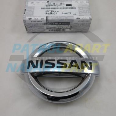 Genuine Nissan Patrol GU Y61 Series 4 Grille Badge