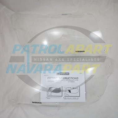 Genuine Nissan Patrol Smoked Bonnet Protector Suit GU 1-3