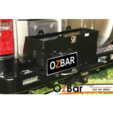 Nissan Patrol GU Series 4 on OZBAR With Wheel Carrier & Double Jerry Can Carrier