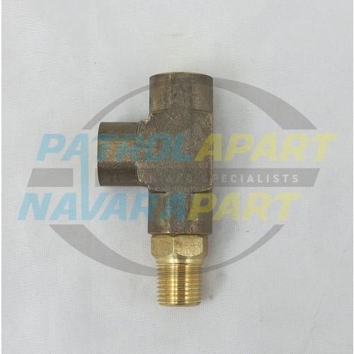 Nissan Patrol GQ GU Oil Pressure Sender T-Piece 1/8 BSP