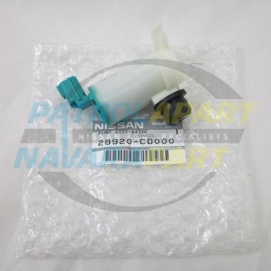 Genuine Nissan Patrol Washer Pump Motor GU Rear Series 4