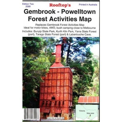 Gembrook - Powelltown Forest Activities Map - Rooftop