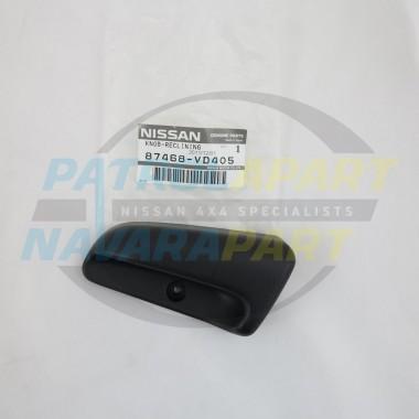 Genuine Nissan Patrol Seat Recliner Knob GU 4 LH
