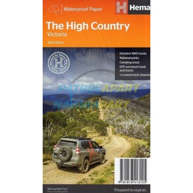 Victorian High Country Hema Map NEW 9th Edition