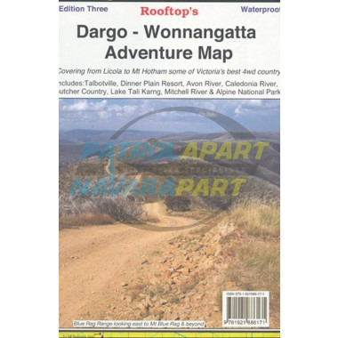 Dargo - Wonnangatta Rooftop Adventure Map Waterproof