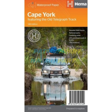 Cape York Tip Queensland Hema Map New 14th Edition