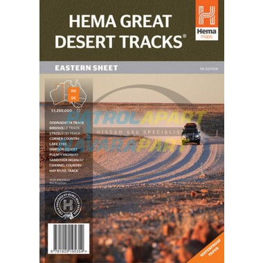 Great Desert Hema Map - Eastern Sheet