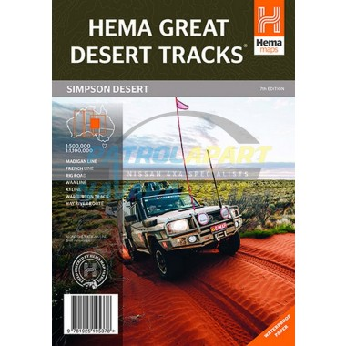 Great Desert Hema Map - Simpson Desert