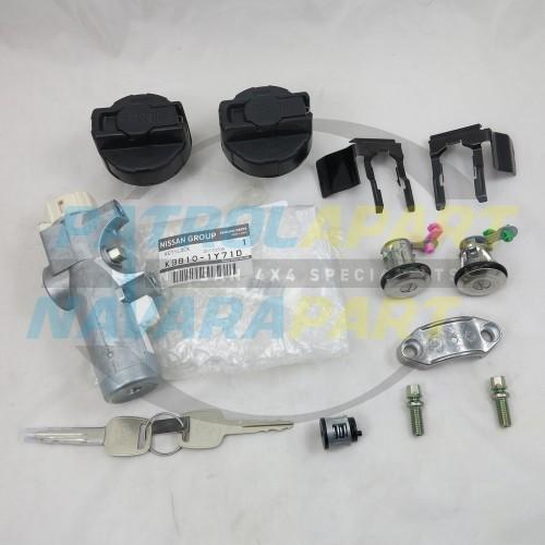 Genuine Nissan Patrol Gu Ute Lock  Ignition Barrel Fuel Cap Set