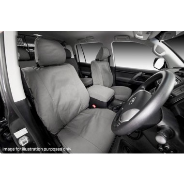 MSA Seat Cover Tradie Nissan Patrol GU Series 9 14 OZ Front Row SRS