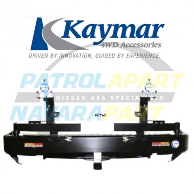 Nissan Patrol Y62 Kaymar Rear Bar with Twin Tyre Carriers ST-L & TI Series 1-3