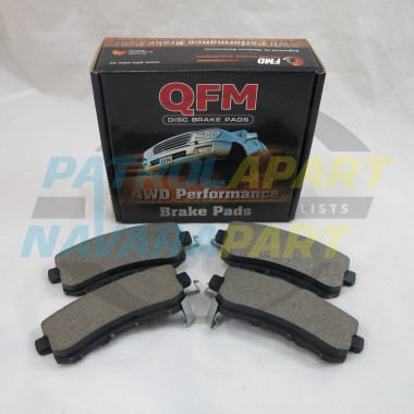 Nissan Patrol GU Y61 Rear QFM Front Brake Pads Set TB48 4.8L ONLY